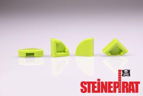 Eckfliese Viertelkreis 6211875 Fliese LEGO® 4x 25269 1x1 limette -NEU-