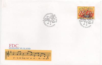 """Åland 1996 Mi.nr. 115 Ersttagsbrief """"schwedisch Finnisches Musikfestival"""" ; Fdc"""