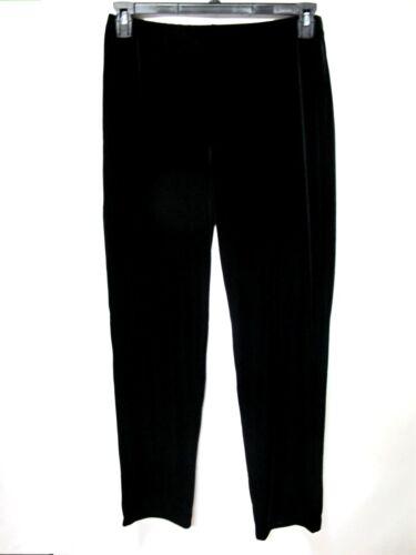 Chico/'s Classic Black Pull On Slim Fit Ankle Length Velvet Tapered Leg Pants