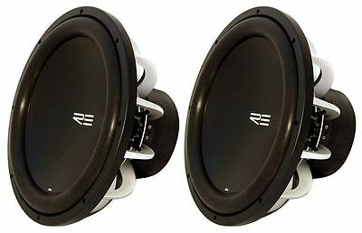 "Pair Re Audio SX18D4 SX 18"" D4 4000 Watt Peak 2000W RMS Car Subwoofers Subs"