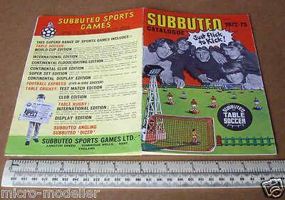 1972-73 Subuteo Giochi Sportivi Catalogo Prodotti. Nella Tabella Calcio, Cricket, Rugby-mostra Il Titolo Originale