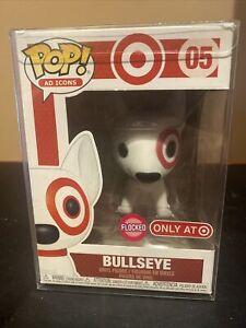 Funko Flocked Target Bullseye Exclusive Target Dog Flocked Gold Collar Damaged