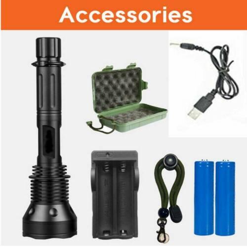 18650 Akku LED Taschenlampe L2 T6 Cree USB Wiederaufladbar Camping Licht Torch