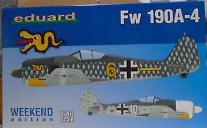 Eduard-1-48-EDK84121-Focke-Wulf-Fw190A-4-Weekend-Edition-Model-kit