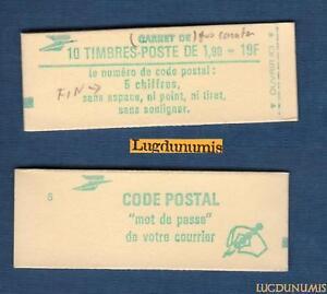 Carnet-2424-C1-Type-Liberte-de-Delacroix-1-90-fr-vert-N-2424-NEUF