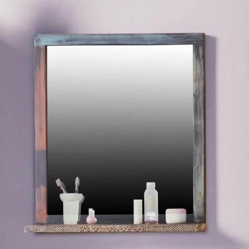Badspiegel Wandspiegel Badezimmerspiegel Goa Massivholz Mango Vintage Wolf Möbel