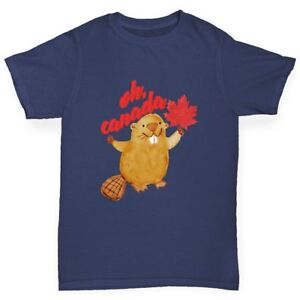 Twisted-Envy-Oh-Canada-Beaver-Boy-039-s-Funny-T-Shirt