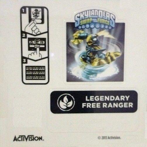 Rare Manufacturer Error Life Swap Force Legendary Free Ranger Sticker Code