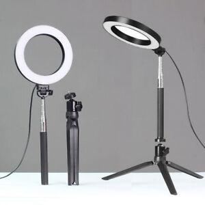 Anillo-de-luz-LED-Regulable-Kit-de-Camara-De-Foto-Fotografia-Luz-para-Selfie-YouTube-en-vivo