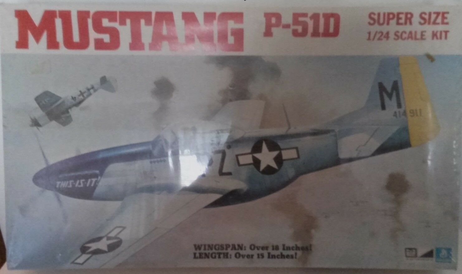 MPC 1 24 North American P-51D Mustang USAAF Fighter WWII 1973 Kit Sealed