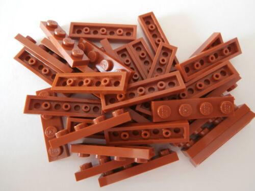 dark orange 1x4 Noppen   NEU LEGO CLASSIC   30 Bauplatten 3710 in hellbraunrot