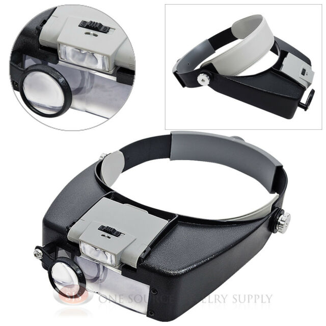 Adjustable Multi-Power Head Magnifier 10.5X Hands-Free Acrylic Lens Magnifying
