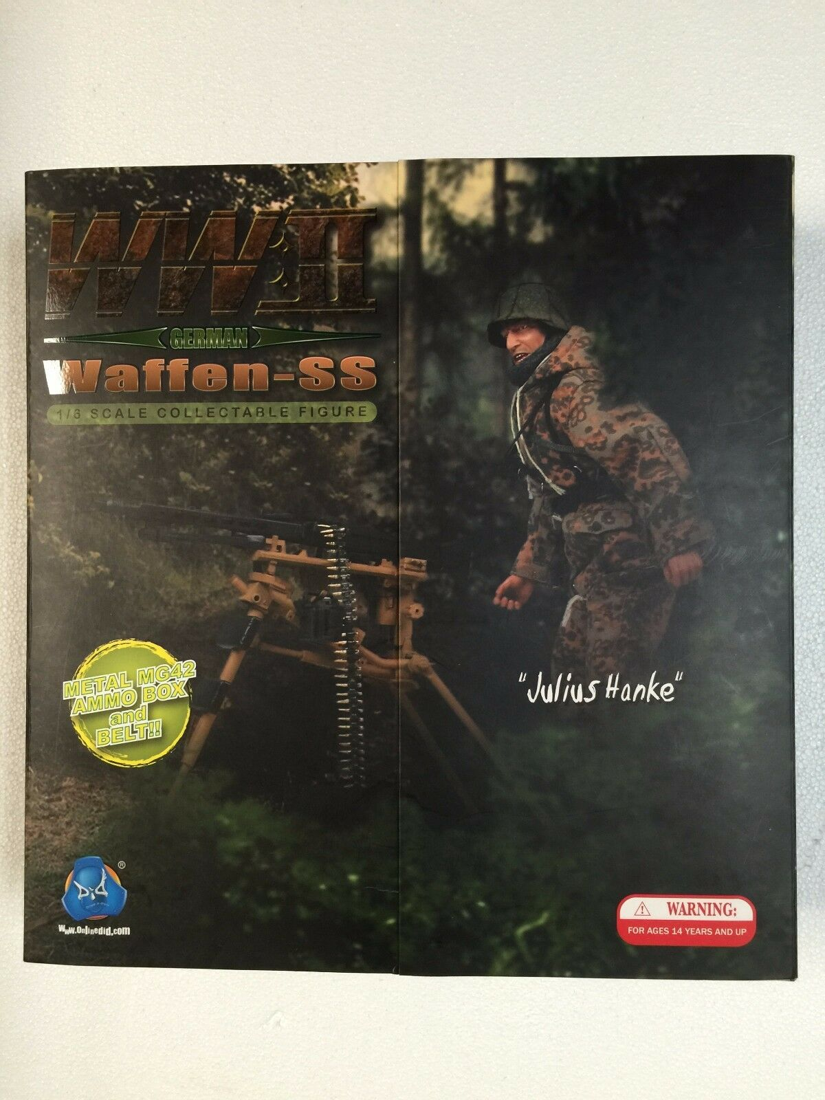 WWII German Waffen SS Julius Hanke 1 6th Scale Action Figure by DID Very Rare