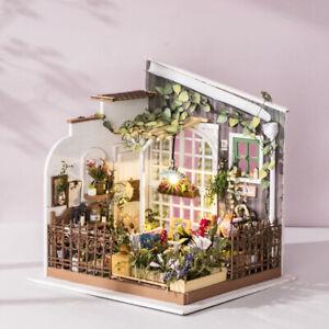 Rolife-DIY-Miniatur-Garten-Holz-Puppenhaus-Moebel-Licht-Montage-Spielzeug-1-24