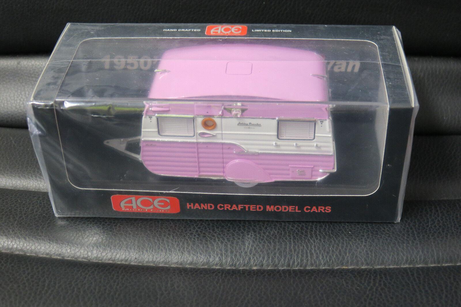 1 43 ACE MODEL CARS 1950's STYLIZED CARAVAN  purpleC  AWESOME LOOKING MODEL LTD