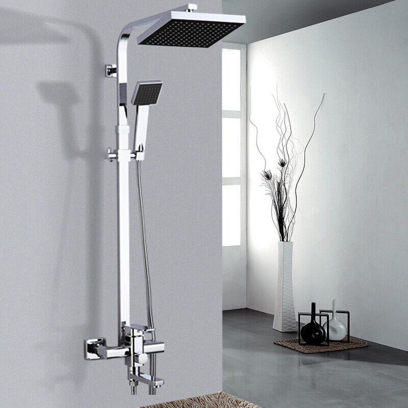 Columna de ducha sistema ducha Altura ajustable efecto lluvia alcachofa de tipo
