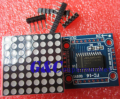 5pcs  MAX7219 Dot matrix module MCU control Display module for Arduino M26