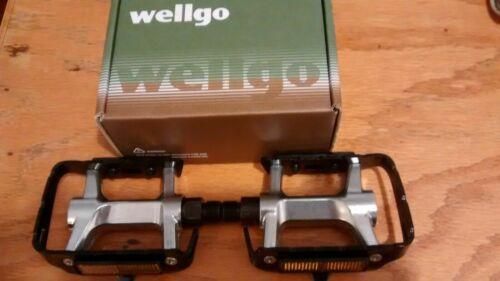 "Wellgo LU-944 Trekking Hybird Road Touring MTB Pedals 9//16/"" Black Silver Color"
