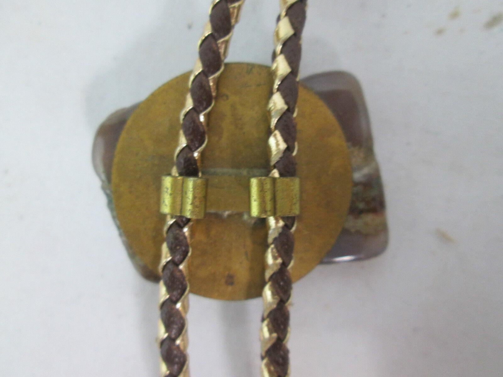 Brown Jasper and Green Aventurine Stone Bolo Tie