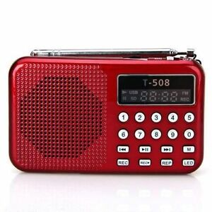 Little-Red-Radio-loaded-with-10-000-old-time-radio-OTR-programs-Time-Traveler