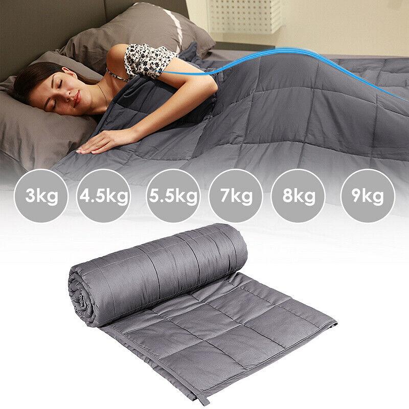 Gewichtsdecke Therapiedecke 3-9kg Weighted Blanket Schweredecke