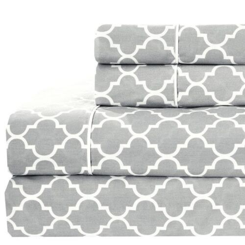 Modern Meridian 100/% Cotton Bed Sheets Set with 250 Thread Count