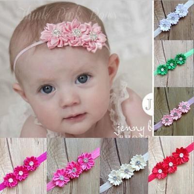 10 Baby Ragazze Fiore Hairband Morbida Fascia Elastica Regali Accessori Per Capelli Band-