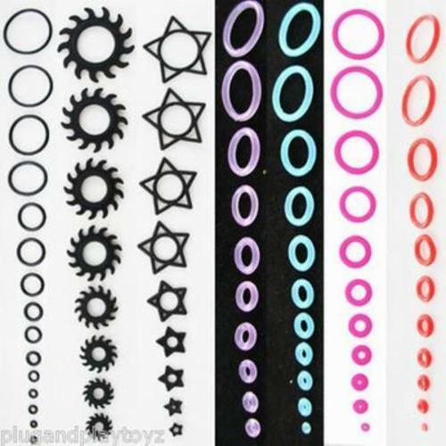 10-40PC O-Rings Replacements for Tapers Plugs Gauges Ear Rubber Bands Star Saw