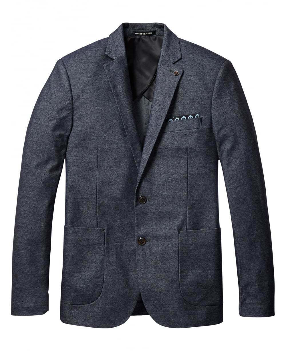 SCOTCH & SODA Classic Knitted Blazer-  INDIGO - Smart Casual Wear - FREE P + P