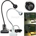 USB LED Flexible Reading Light Clip-on Beside Bed Table Desk Lamp Book Light