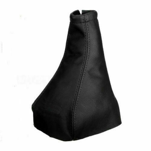 Universal GEAR BAG FAUX LEATHER GEAR KNOB COVER GAITER BLACK Car