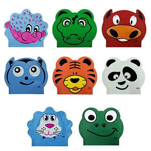 CHEX Stretchy Latex Panda Kids Junior 3-7 Years Swimming Hat Swim Cap Seconds