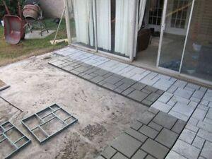 Mold block paving concrete walk maker path decor garden for Landscaping rocks you can walk on