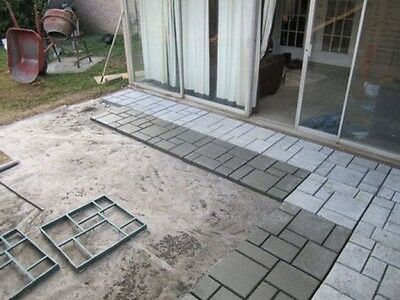 Mold Block Paving Concrete Walk Maker Path Decor Garden Outdoor Stepping  Stone
