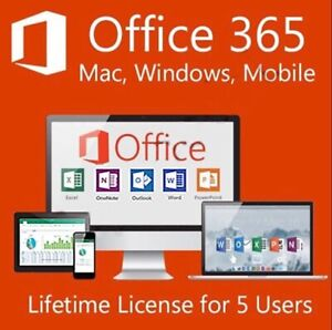 MICROSOFT-OFFICE-365-PRO-2016-2019-Licenza-vita-5-dispositivi-Drive-5TB-Globale