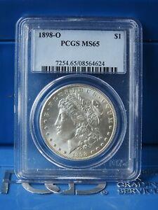 PCGS MS65 1898-O US Morgan Silver Dollar $1