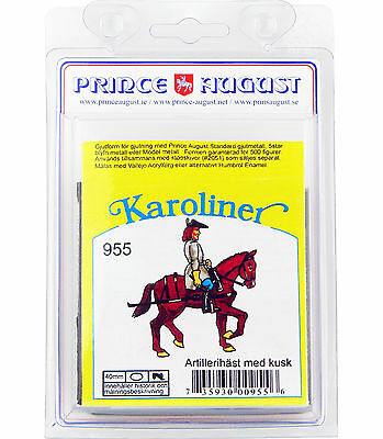 40mm Karoliner Arillery Carriage Horse /& Rider Prince August mold moulds PAS955