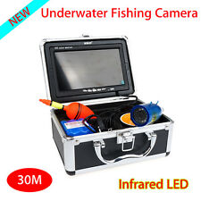 """30m 7"""" LCD Infrared Video Fishing Camera Fish Finder w/Sunvisor+Lights Control"""