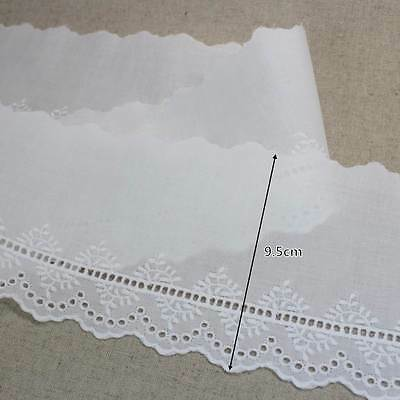 """14Yds Embroidery scalloped cotton eyelet lace trim 1.7/"""" YH808 laceking2013"""