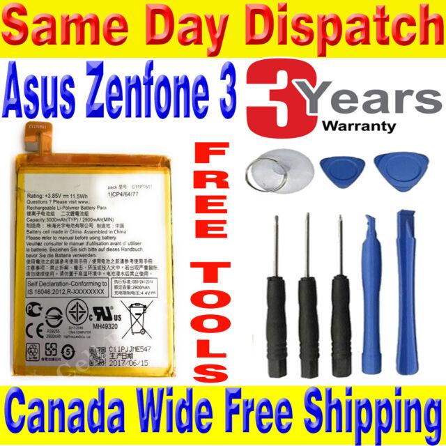 Brand New OEM ASUS Zenfone 3 Battery 3000mAh C11P1511 (C11P1424)