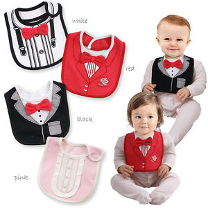eae33d460 Baby Bibs 3 Layers Waterproof Baby Boy Tuxedo Bibs Newborn Feeding ...