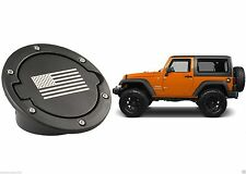 American Flag Black Fuel Door Cover For 2007-2017 Jeep Wrangler JK New Free Ship