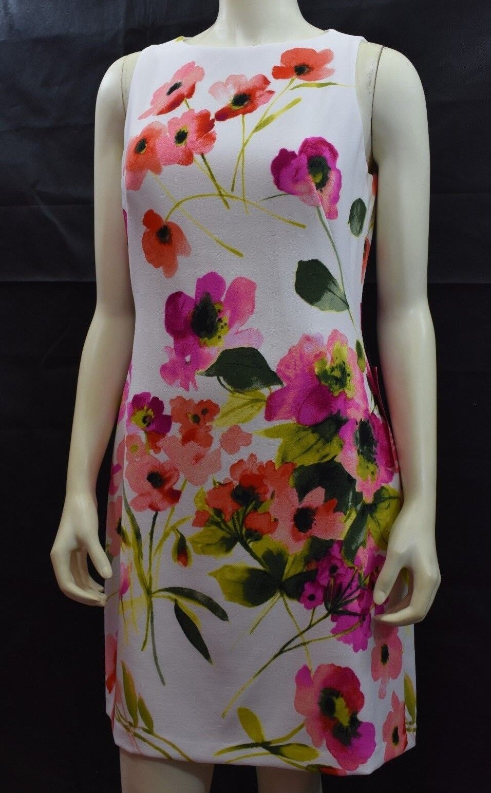 RALPH LAUREN FLORAL PRINT SHEATH DRESS SZ 12 NEW WITH TAG