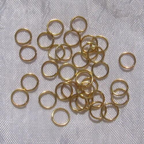 Anneaux Jonction Accroche Breloque dorés Création Bijoux Perles Bracelet Collier