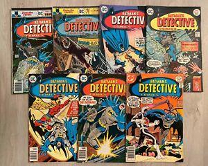 Detective Comics #462-468 * complete (7) * 463 464 465 466 467 Batman 1976 1977