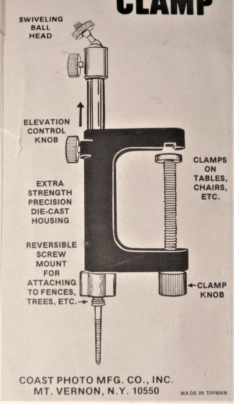 Photo pocket clamp for 1/4