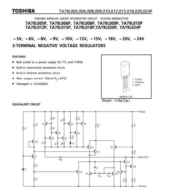1PCS MC79L05ACP  Encapsulation:TO-92,3-Terminal 1A Negative Voltage Regulator;