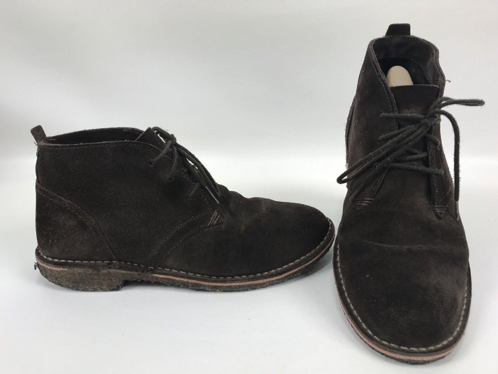 LL BEAN Suede Desert Ankle Chukka Boots Men's Size 10 M Crepe Soles Dark Brown