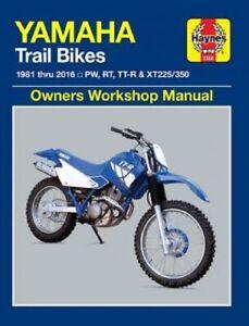 Haynes Manual 2350 For Yamaha Pw80 Rt100 Xt225 Tt R250 Xt350 1981 2016 38345023507 Ebay