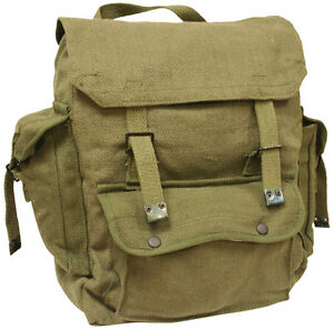 Mens Combat Military Rucksack Travel Back Pack Canvas
